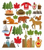 vector canada icon set
