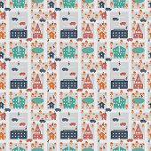 Repeating Pattern Child's City Scene