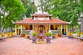 Den Tuong Niem Cac Vua Hung Temple in Tao Dan Park, Ho Chi Minh or Saigon, Vietnam.