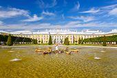 Park in Peterhof, St Petersburg, Russia