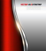 Abstract business background red and silver, vector illustration.