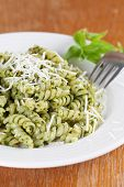Fusilli With Pesto And Parmesan