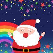 Santa Claus in the night sky
