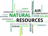 Word Cloud - Natural Resources