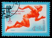 USSR - CIRCA 1980: A stamp printed in USSR, Summer Olympic Games