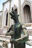 Stone Statue Of Mythical Creature At Wat Phra Kaeo, Temple Of Em