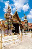 Temple of Emerald Buddha in Grand Royal Palace. Bangkok Thailand