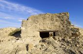 bunker used in the Spanish civil war,  Caspe, Saragossa, Aragon,  Spain