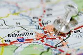 image of asheville  - asheville north carolina city pin on the map - JPG
