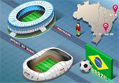 Isometric Stadium Of Natal And Rio De Janeiro, Brazil