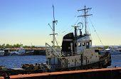 Tug Ship In River Port