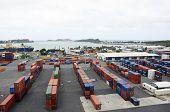Container port.