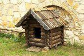 Old retro wooden shack