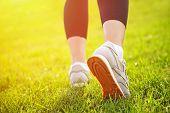 Athlete legs closeup