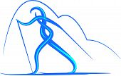 PrintVector symbol of country skiing