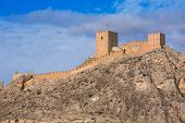 foto of sax  - Alicante Sax village castle and skyline in Spain - JPG