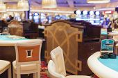 Las Vegas- USA, September, 30: Empty Gaming Table in Las Vegas in  September, 30, 2013