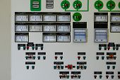 Control panel of a nuclear laboratory