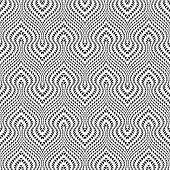 Design Seamless Monochrome Illusion Trellised Pattern