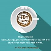 Page not found, 404 error background design site.