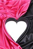 white hart on pinck and black silk