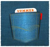 Vector - Blue back jeans pocket