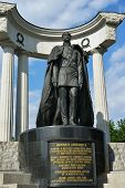 MOSCOW, RUSSIA - MAY 17, 2014: Monument to Emperor Alexander II, the Liberator Tsar. Designed by pro
