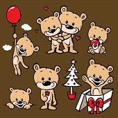 foto of pacifier  - cute bear family cartoon  - JPG