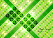 Vector of Hari Raya Ketupat for Muslim celebration. Translation: Ramadan Kareem - May Generosity Ble