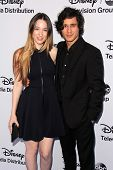 LOS ANGELES - MAY 19:  Sophie Lowe, Peter Gadiot at the Disney Media Networks International Upfronts at Walt Disney Studios on May 19, 2013 in Burbank, CA