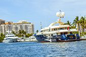 Boats At Waterfront Side In Fort Lauderdale