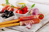 stock photo of antipasto  - italian appetizer  - JPG
