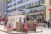 former border cross checkpoint Charlie in Berlin