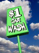 Lime Green Vintage Car Wash Sign