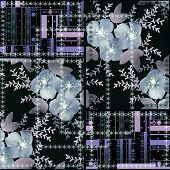 Patchwork Seamless Floral Abstract Pattern Texture