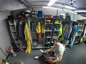 Indianapolis, IN - May 25, 2014:  NASCAR driver, Kurt Busch (26), dresses into his firesuit before t