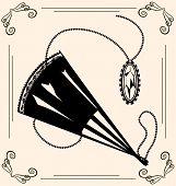 vintage fan and jewel