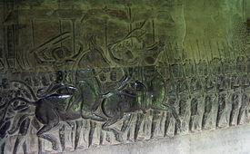 foto of mahabharata  - Bas relief  - JPG