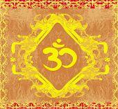 Om Symbol - Vintage Artistic Background