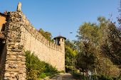 picture of turin  - A view of the battlements in the park in Turin in autumn - JPG