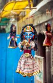 picture of ganesh  - Souvenir Ganesh puppet hanging in the shop of Thamel Kathmandu Nepal - JPG