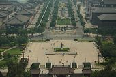 view on the square from Big Wild Goose Pagoda