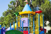 Colorful childrens play set in nature