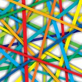 Vector Pattern Of Colorful Straight Lines