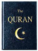 stock photo of quran  - The front cover of The Quran over a white background - JPG