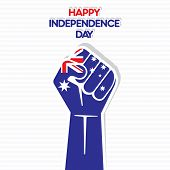 Independence Day of australia,  hand design vector