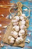 A string of garlic