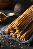 foto of churros  - Homemade Deep Fried Churros with Cinnamon and Sugar - JPG