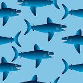 Shark Seamless Pattern