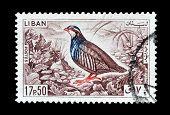 Lebanon 1965 Red-legged Partridge stamp